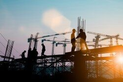 New Off-Payroll, construction-site, sunset