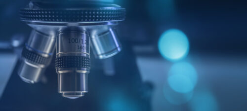 Working Capital Cycle, laboratory optical Microscope, blue tone