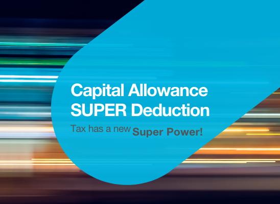 Capital Allowances Super Deduction Tax